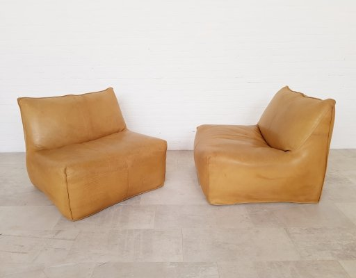 Set of 2 Le Bambole chairs by Mario Bellini for B&B Italia, 1970s