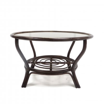 Vintage rattan coffee table from the 70s