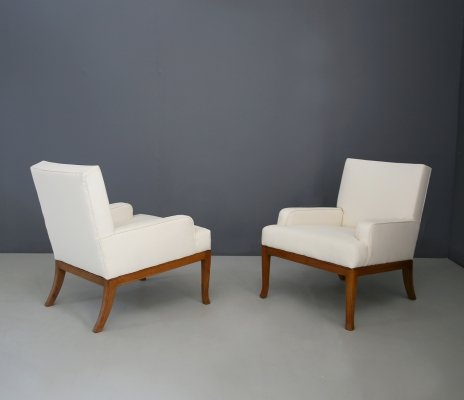 Pair of 'Greca series' armchairs by Robsjohn Gibbings, 1950's