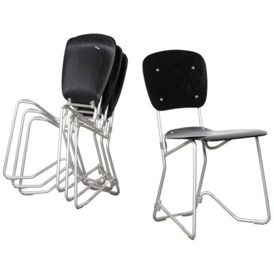 49 x Aluflex dining chair by Armin Wirth for Seledue, 1950s