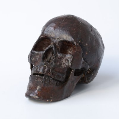 Bronze Skull Sculpture, 1990s