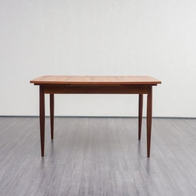 Extendable (120 - 187cm) teak dining table with elliptical shape, 1960s