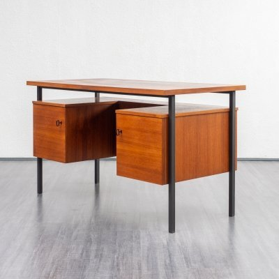 Cubical teak desk, 1960s