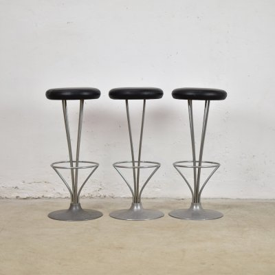 Set of 3 bar stools by Piet Hein for Fritz Hansen, Denmark 1960's