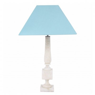 Table Lamp with Marble Column on Plinth