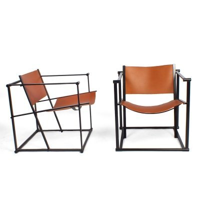 2 x FM61 arm chair by Radboud van Beekum for Pastoe, 1980s