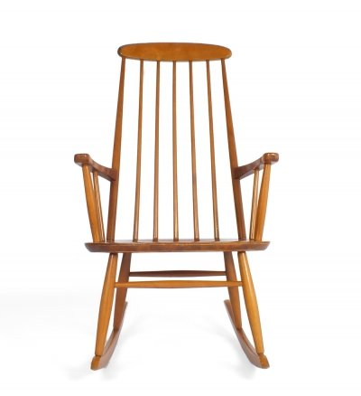60s rocking chair with bars in the back & on the sides