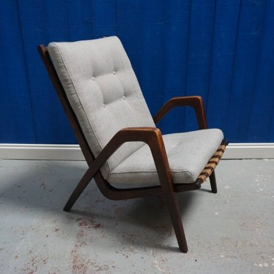 Jan Vanek Easy Chair by Krasna Jizba, 1950s
