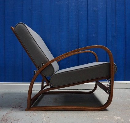 Jindrich Halabala Model H-70 Bentwood Armchair by Thonet, 1930s