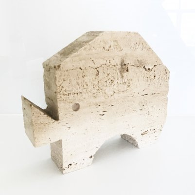 Fratelli Manelli travertine sculpture, 1970s