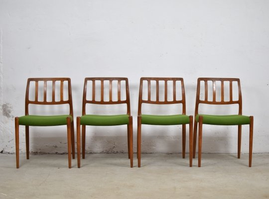 Dining chairs by Niels O. Moller for J.L. Møllers Mobelfabrik, Denmark 1960's