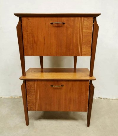 Vintage Dutch design night stands by Louis van Teeffelen for Webe