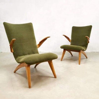 Pair of armchairs by G. Van Os for van Os Culemborg, 1960s