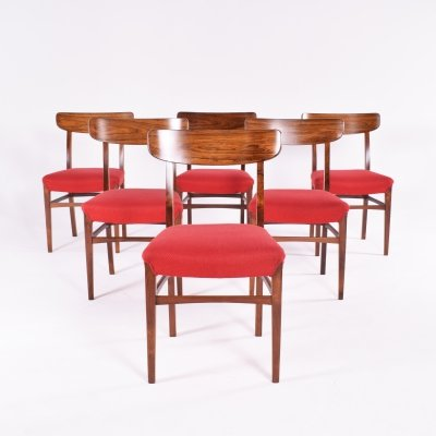 Set of 6 Mid Century Danish Rosewood Dining Chairs