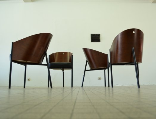 Set of 4 vintage Driade 'Costes' chairs by Philippe Starck, 1984