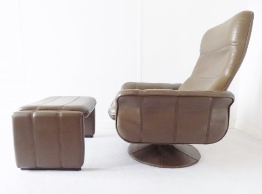 De Sede DS 50 lounge chair with ottoman, 1970s