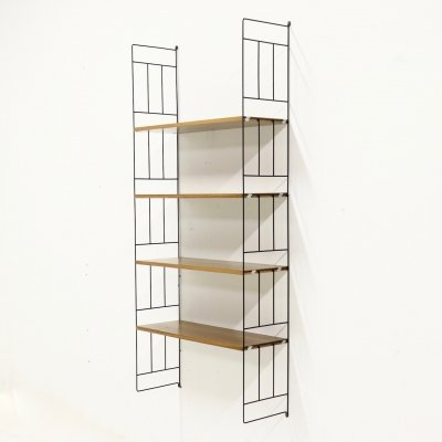 Mid Century Metal & Teak Ladder shelf by WHB, 1960s