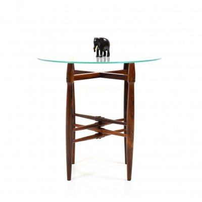 1950s Rosewood Side Table by Poul Hundevad
