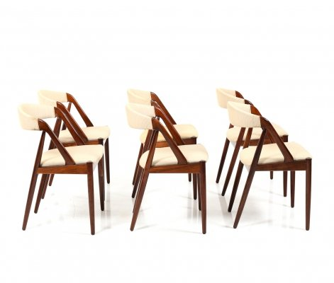 Set of 6 Kai Kristiansen Model 31 Dining Chairs in Rosewood