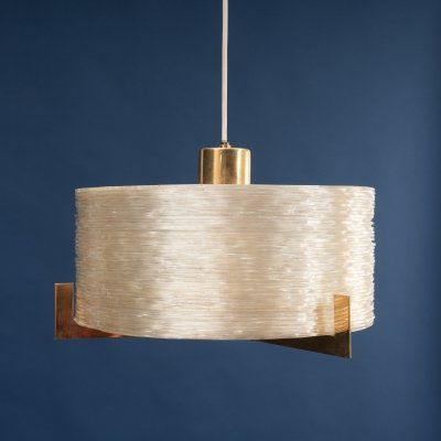 Glamorous 1960s pendant lamp with brass details