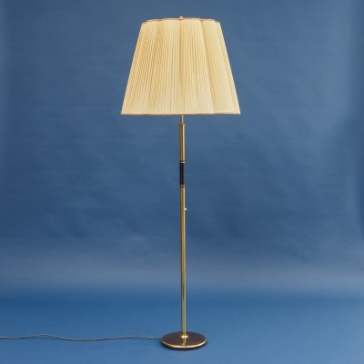 1950s floor lamp with large pleated lampshade