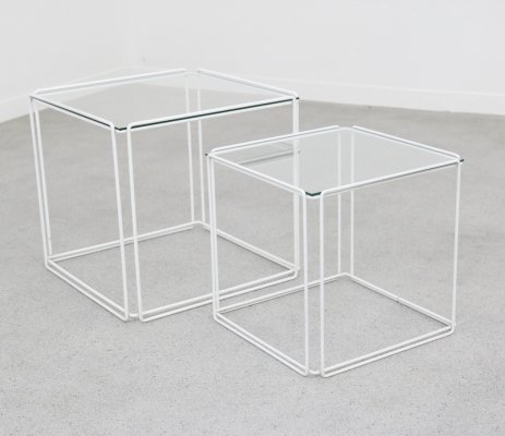 Pair of Isocèle nesting tables by Max Sauze for Atrow, 1970s