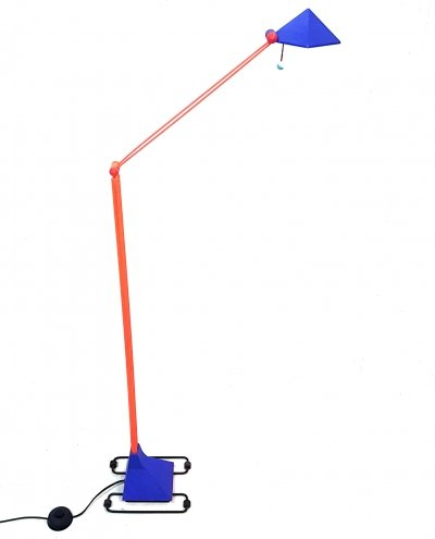Memphis style halogen floor lamp by Lungean & Pellman, Germany 1980s