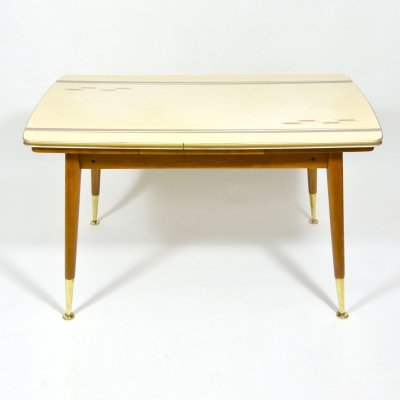 Vintage Folding Coffee Table With Patterned Desk, 1970s