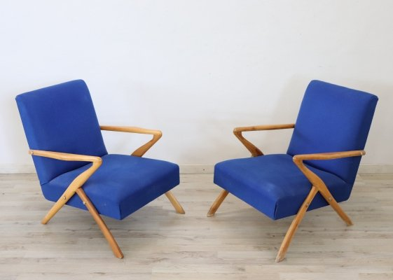 Pair of Italian Design Armchairs by Paolo Buffa, 1950s