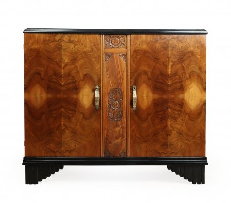 Art Deco Sideboard in Walnut, c1930
