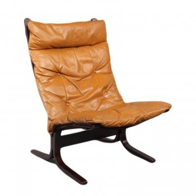 Siesta Leather Highback Chair by Ingmar Relling, 1960s