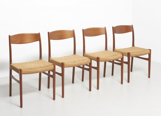 4 dining chairs in teak by Glyngøre Stolefabrik