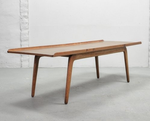 Solid Teak Coffee Table by Aksel Bender Madsen for Bovenkamp, Holland 1960s