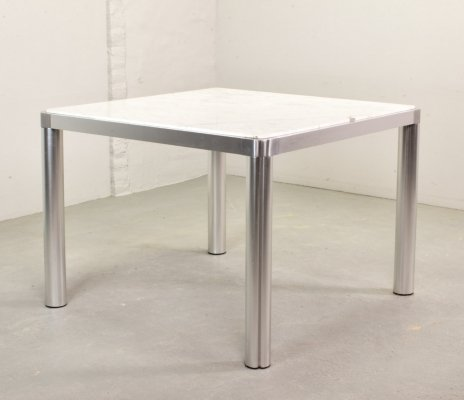 Dutch Design Marble & Aluminium Dining Table by Kho Liang Ie for Artifort, 1970s