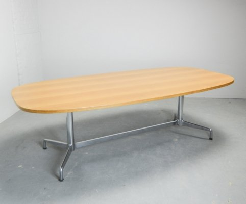 Large Oval Conference Dining Table by Anonima Castelli