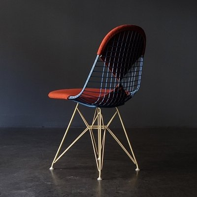 One of only two produced DKR-2 Harlequin chairs by Charles & Ray Eames