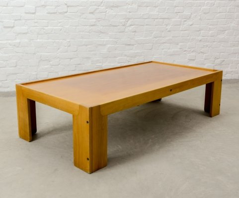 Italian Design Solid Wood Revers Coffee Table by Tobia Scarpa for Cassina, 1970s