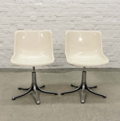 Mid Century Italian 'Modus' Swivel Side chairs by Osvaldo Borsani for Tecno, 1970s
