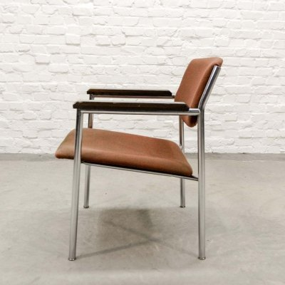 Mid Century Dutch Design Side Arm Chair by Gijs van der Sluis, 1960s