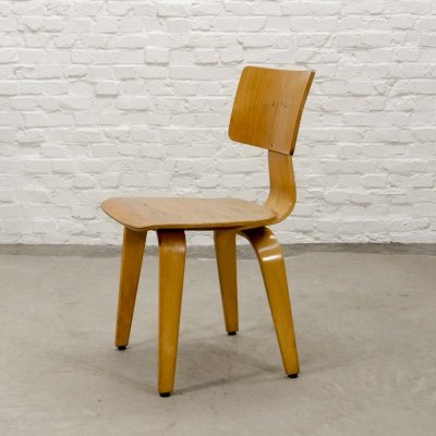 Mid Century Dutch Design Side Chair SB02 by Cees Braakman for Pastoe, 1950s
