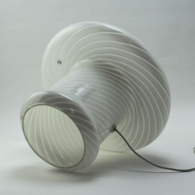 Italian Design Swirled Glass Mushroom Table Lamp by Vetri Murano, 1960s