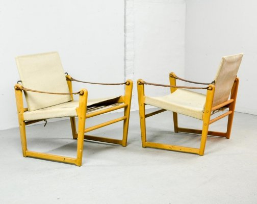 Mid-Century Scandinavian Design Safari Chairs by Bengt Ruda for Ikea, 1960s