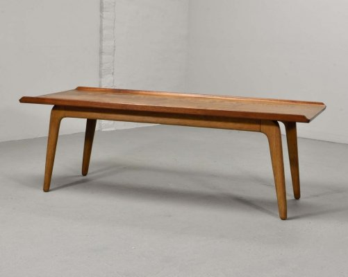 Mid Century Dutch Design Teak Coffee Table by Aksel Bender Madsen for Bovenkamp, 1960s