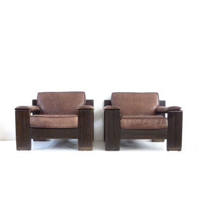2 x Vintage armchair by Leolux, 1960s