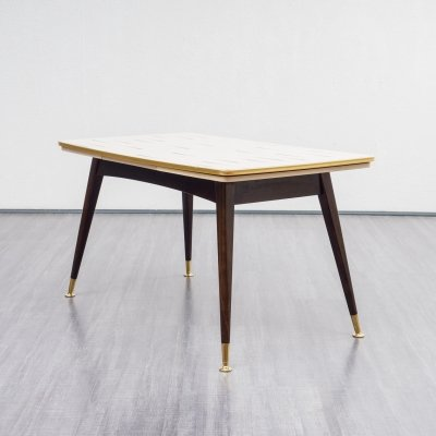 Height-adjustable & extendable dining table, 1950s