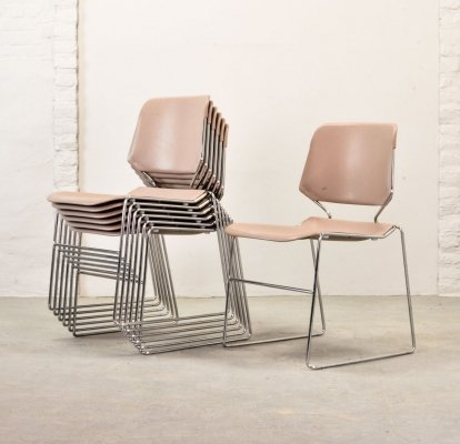 Mid Century design Stackable Matrix Krueger Chairs by Thomas Tolleson, USA 1970s