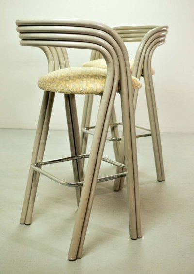 Luxurious Dutch Design Barstools by Axel Enthoven for Rohé Holland, 1970s