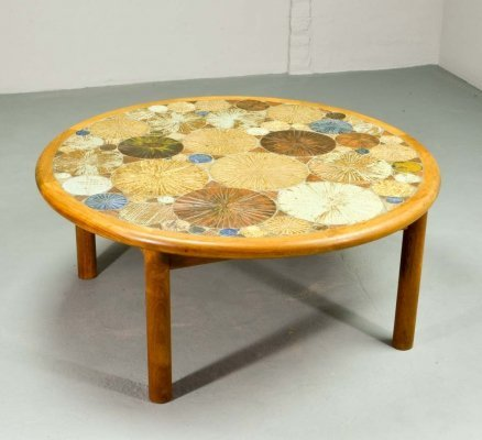 Mid Century Danish Design Art Tiles Coffee Table by Tue Poulsen for Haslev, 1960