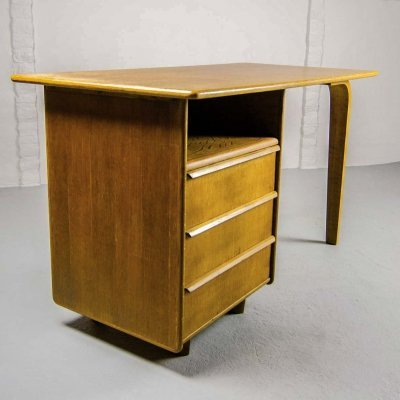 Mid Century Dutch Design EE02 Oak Desk by Cees Braakman for Pastoe, 1950s
