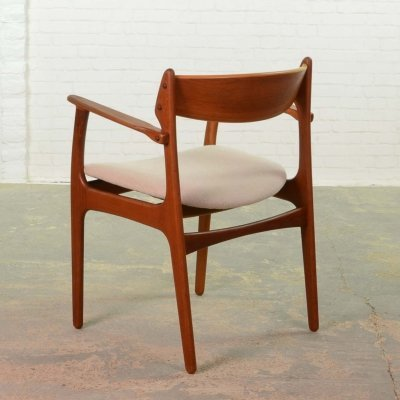 Mid-Century Scandinavian Design Teak Desk/Armchair by Erik Buch for Oddense